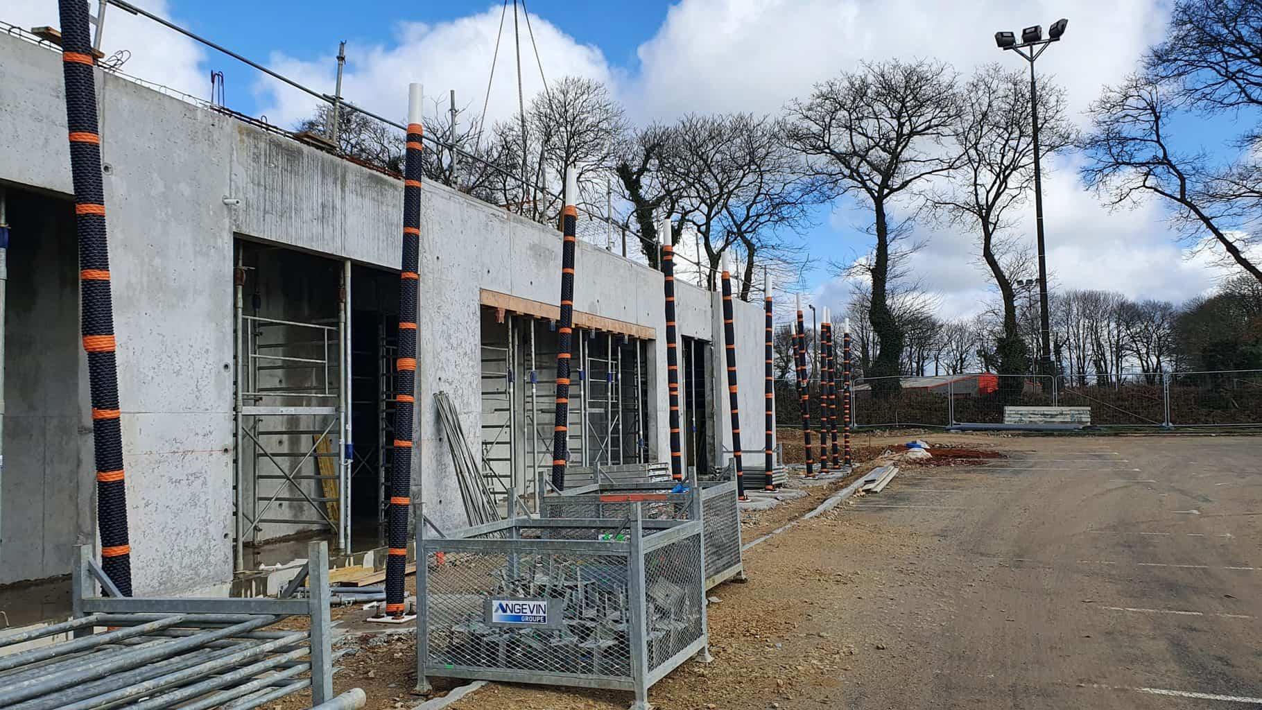 """Plan sur les poteaux """"mikados"""" du projet Rosporden"""