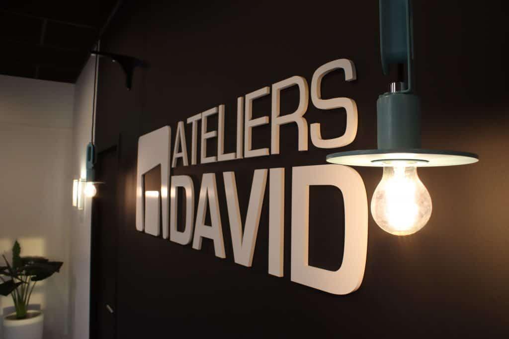 Logo des Ateliers David dans le nouvel Accueil