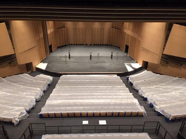 Vue depuis l'auditorium du Centre de Congrès d'Angers que les Ateliers David ont participé à réhabiliter