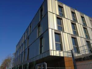 Photo en contre-bas du Lycée Feyder d'Epinay-Sur-Seine