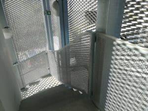 Détails de l'escalier conçu et posé par les Ateliers David à Saint-Sébastien-Sur-Loire