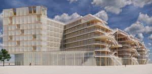 Image de synthèse présentant une vue d'ensemble de projet ARBORETUM auquel les Ateliers David participeront pour les 3 années à venir